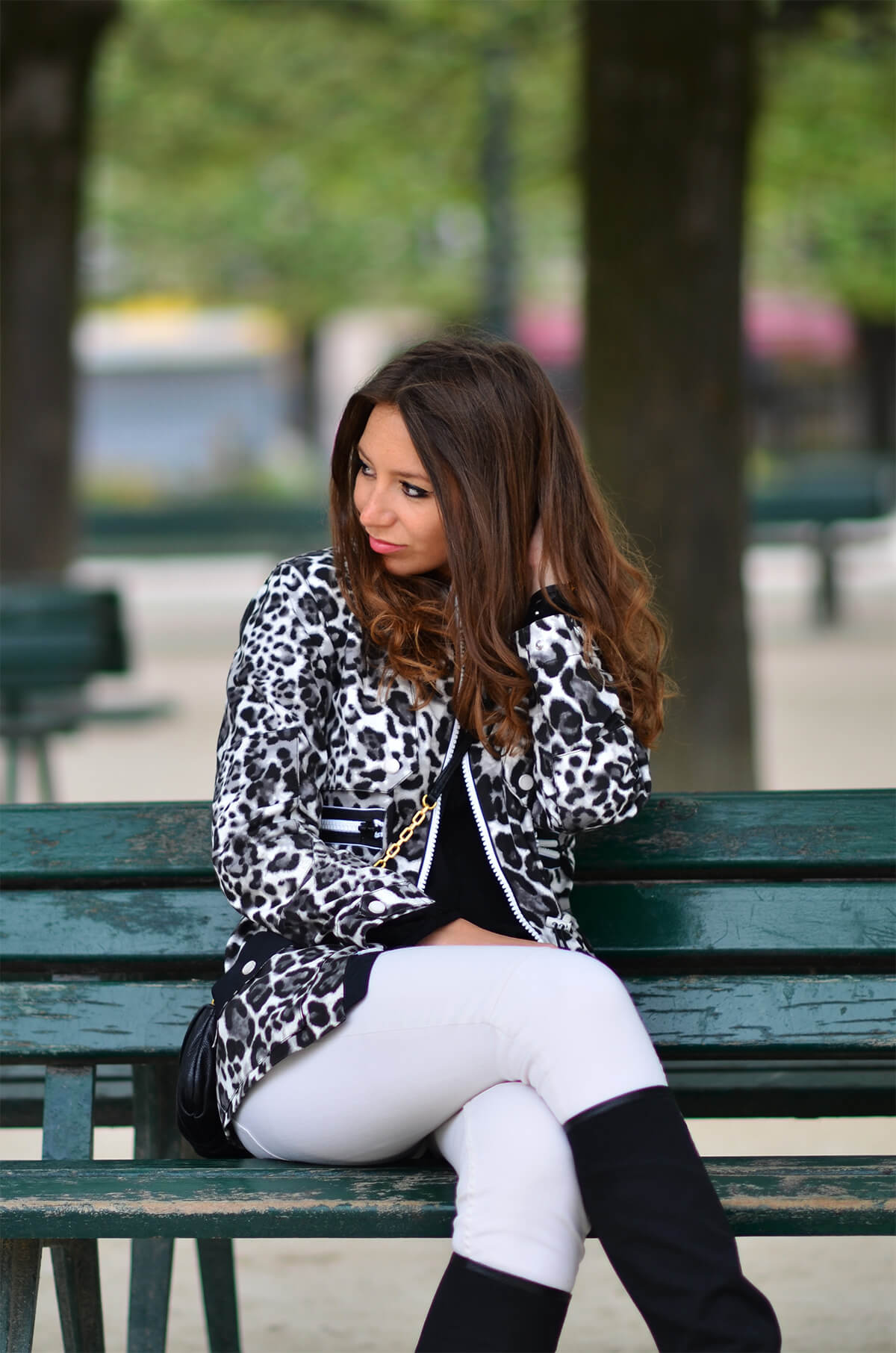 The Wild Parisian parka leopard